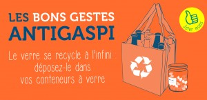 recyclez le verre d'emballage