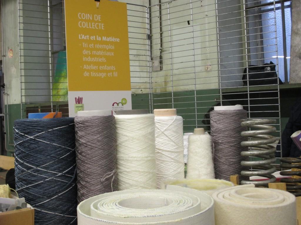 L'Art et la Matière sauve les matériaux industriels de la poubelle !